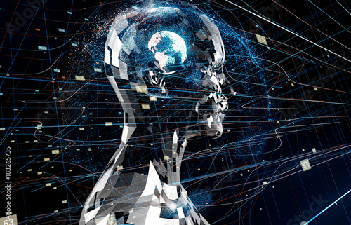 AI(Artificial Intelligence) concept. Canvas Print