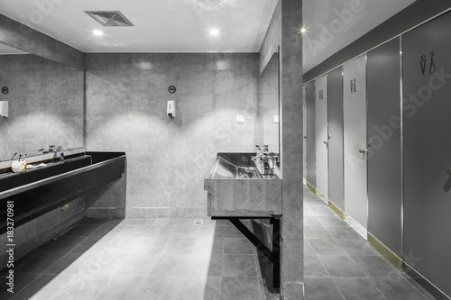 Fotografia  interior of modern public washing room