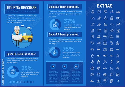 Industry infographic template, elements and icons  Infograph