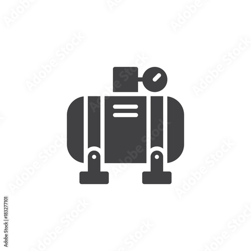 Fototapeta Air compressor icon vector, filled flat sign, solid pictogram isolated on white. Symbol, logo illustration. obraz