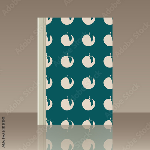 Stickers pour porte Pierre, Sable Fruits and Book. Realistic image of the object