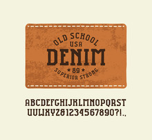 Serif Font In The Style Of Han...