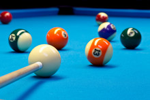 Billiard Pool Eightball Taking...