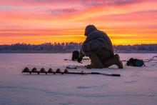 Winter Sport Ice Fishing