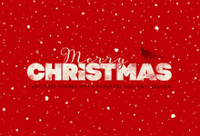 Red Christmas Greeting Card Wi...