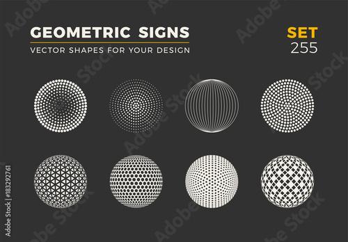 Photo  Set of eight minimalistic trendy shapes