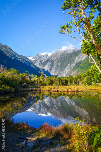 Canvas Prints New Zealand Franz Josef glacier and lake, New Zealand
