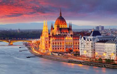 Hungarian parliament, Budap...