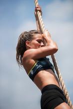 Women Climbing The Rope
