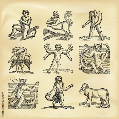 Photo  Vintage mythological creatures
