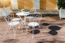 Outdoor Summer Cafe In Classic...