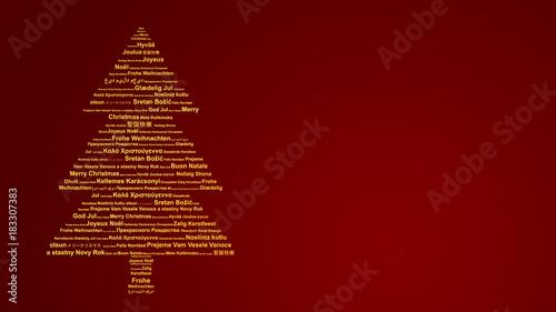 Frohe Weihnachten Auf Allen Sprachen.Weihnachtskarte Mit Frohe Weihnachten In Verschiedenen Sprachen
