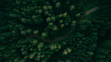 Aerial View Of A Road In The M...