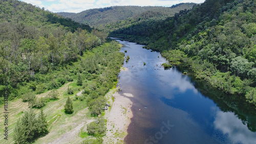 Nymboida River - aerial view Northern NSW Australia Wallpaper Mural