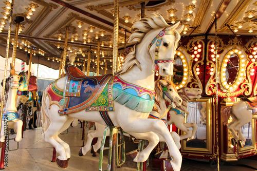 Fotografie, Obraz  Vintage carousel horse