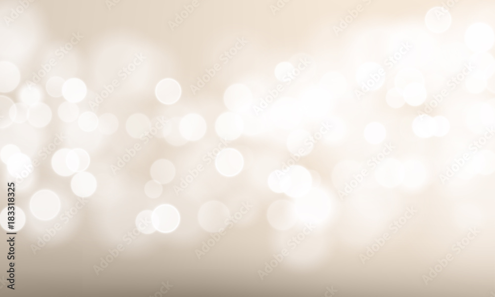 Fototapeta Abstract light blur and bokeh effect background. Vector defocused sun shine or sparkling lights and glittering glow for festival or white celebration background template