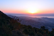 View of the sea of Galilee (Kineret lake) from mountain