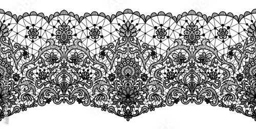 Photo floral lace border