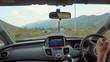 Tbilisi, Georgia - 14 September 2017: Inside a car. A GPS module is on. Close-up shot