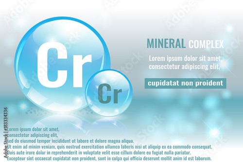 Mineral Cr Chromium Complex With Chemical Element Symbol