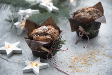 Muffins And Christmas Decoration