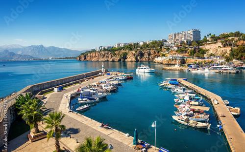 Poster Turquie Antalya city on Mediterranean sea, Turkey
