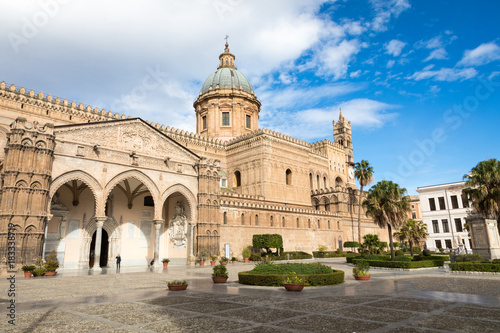 Foto op Plexiglas Palermo Palermo Cathedral is the cathedral church of the Roman Catholic Archdiocese of Palermo located in Sicily southern Italy.