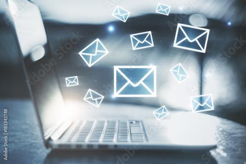 E-mail network concept