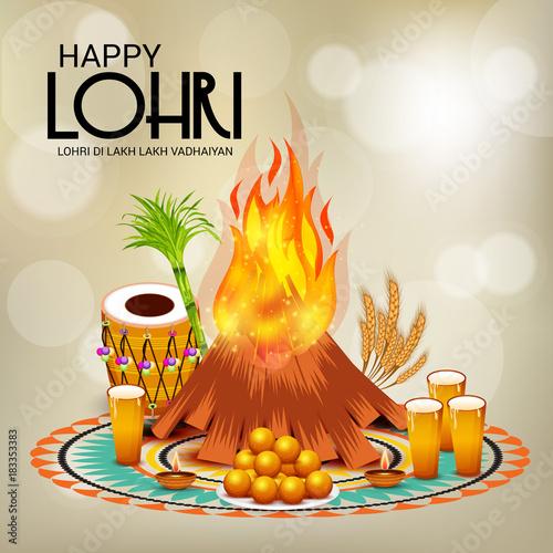 Happy Lohri. Tapéta, Fotótapéta