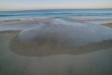 Fototapeta na wymiar Sunrise beach view in Portugal