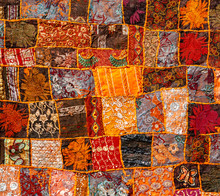 Old Indian Patchwork Carpet, R...