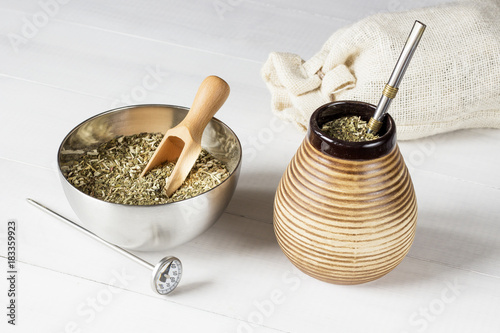 traditional yerba mate with accesories