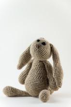 Brown Crochet Bunny Toy