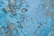Old, Blue, Exfoliated, Peeling...