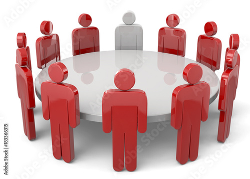 Leinwand Poster Round Table - 3D
