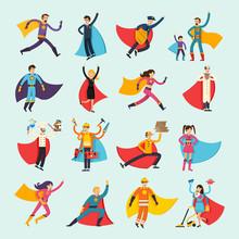 Superheroes Orthogonal Flat Pe...