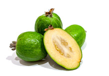 Feijoa Isolated On The White Background
