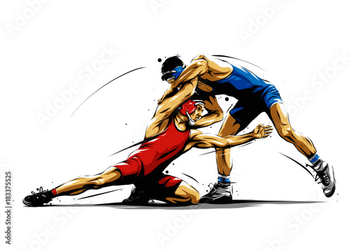 Obraz wrestling action 5 - fototapety do salonu