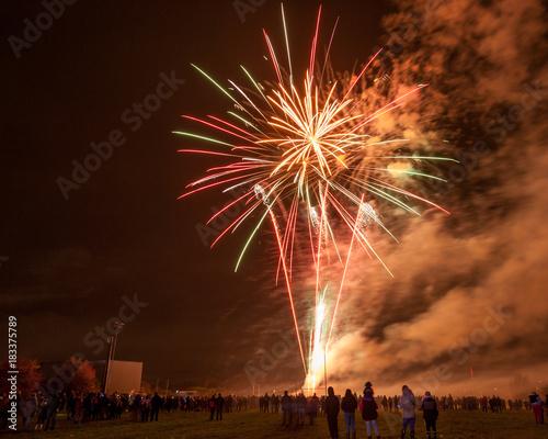 Fireworks at Sutton Park Leigh Canvas Print
