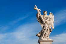 Angel With Cross In The Sky