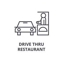 Drive Thru Restaurant Line Ico...