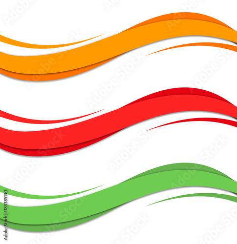 Fotografija Abstract color wave design element