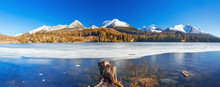 Mountain Lake Strbske Pleso In...