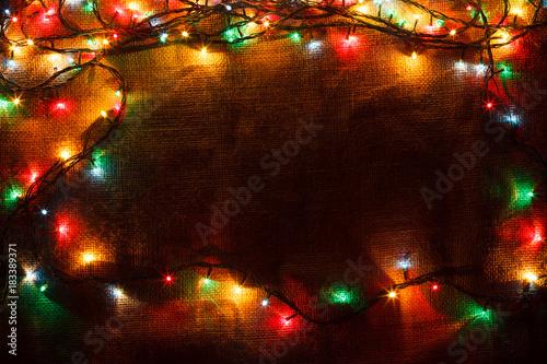 by bm_photo - Burlap Christmas Garland