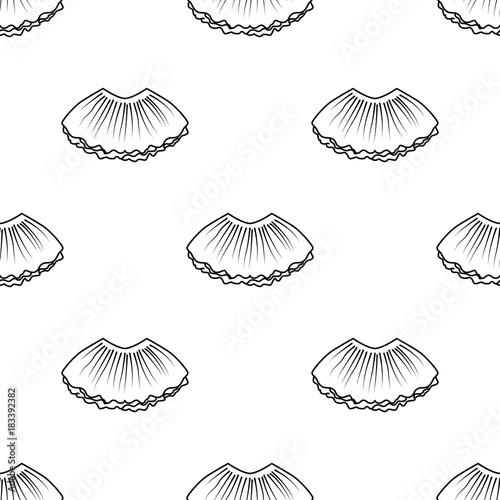 Fotografie, Obraz Ballet tutu seamless pattern in outline style