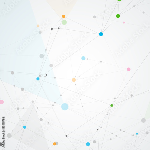 Fototapety, obrazy: Creative connection with points and lines. Abstract network structure. Polygonal vector background