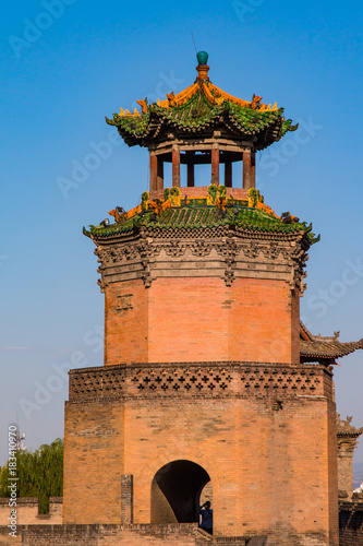 Foto op Canvas Chinese Muur Well preserved watch tower