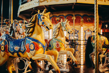 Seat Horse On Carousel Illumin...