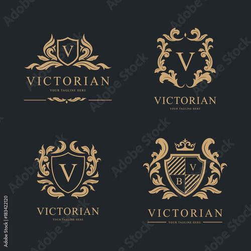 Photo  Luxury Logo set. Vector Logo template.