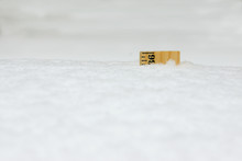 Ruler In Snow 36 Inches Close